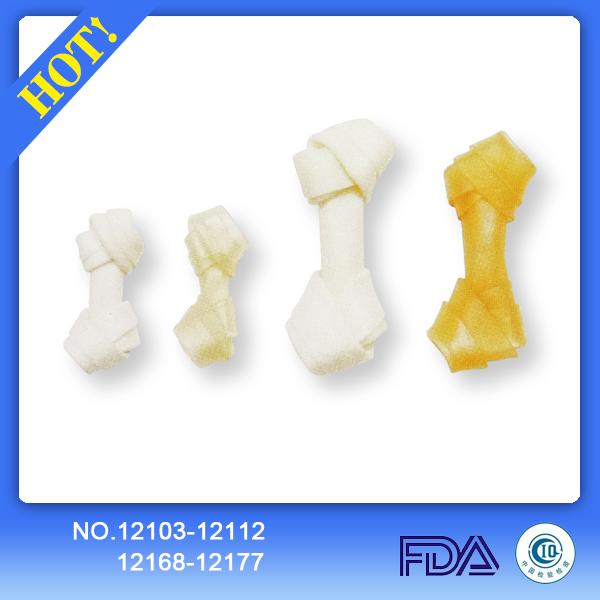 Rawhide knotted bone 12103-12112